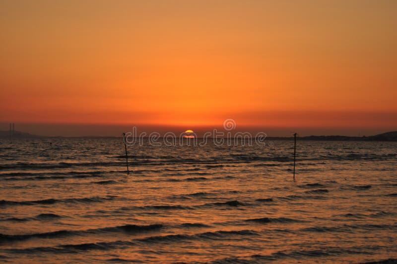 Заход солнца в Maremma стоковое изображение