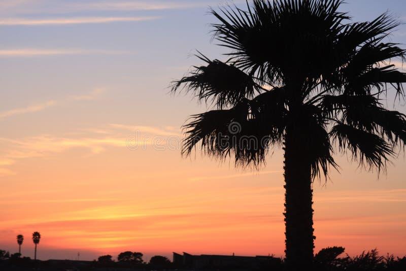 Заход солнца в Santa Cruz стоковые фотографии rf
