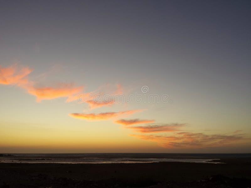 Заход солнца в tanger стоковое фото