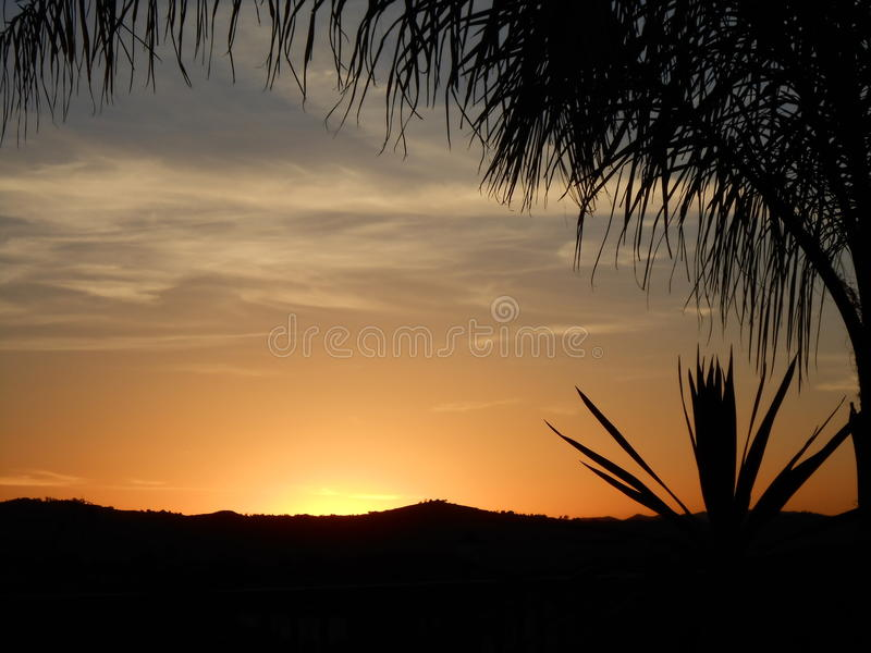 Заход солнца в Temecula Калифорнии в декабре стоковые изображения rf