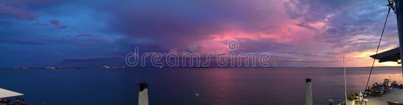 Заход солнца Дарвина стоковая фотография rf