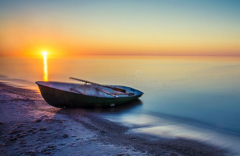 Заход солнца лета Seascape стоковое изображение