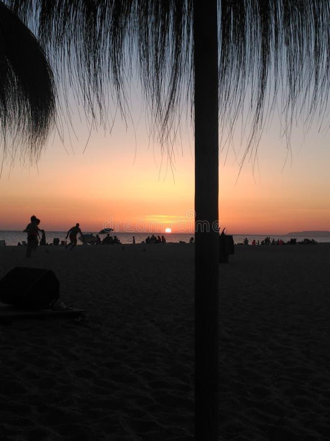 Заход солнца затмения стоковая фотография