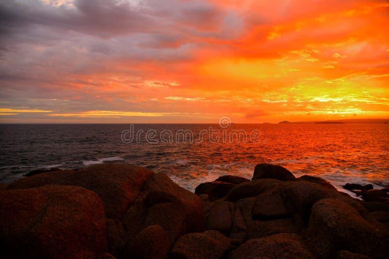 Заход солнца залива Elliot порта стоковое фото