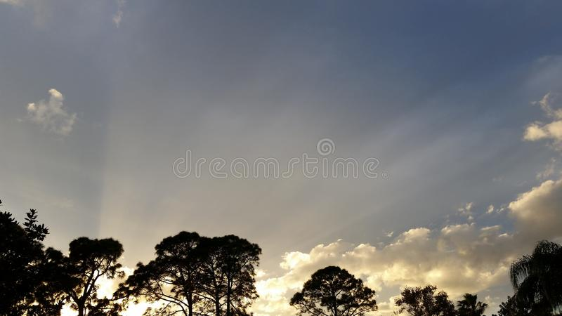 Заход солнца зимы стоковое фото rf