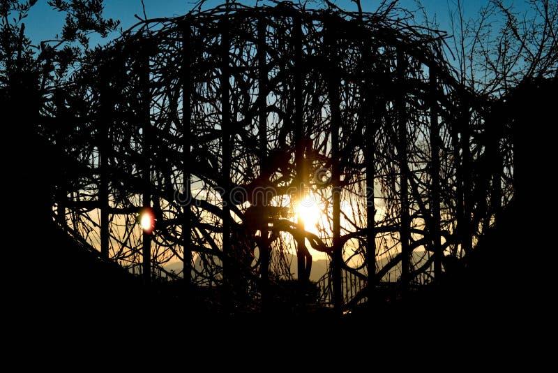 заход солнца Италии стоковые фото
