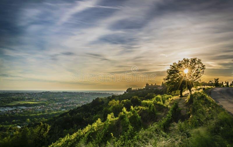 заход солнца Италии стоковое фото rf
