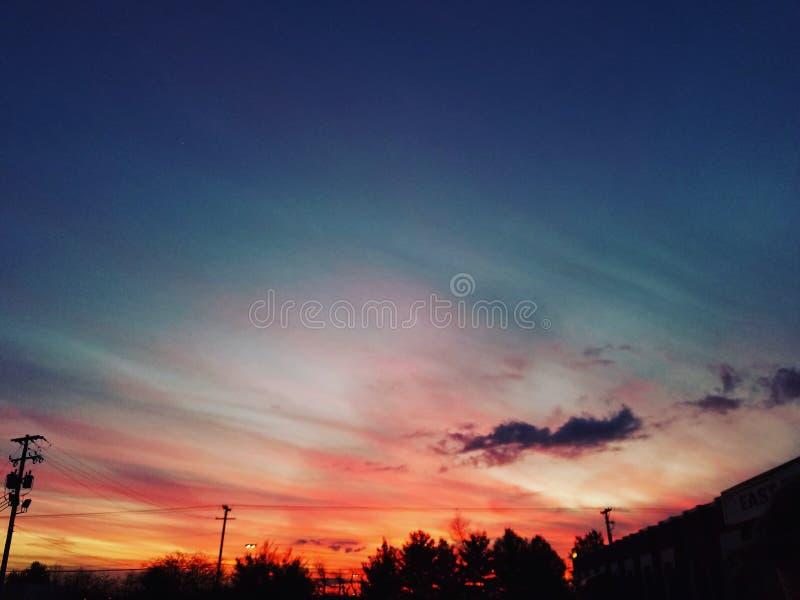 Заход солнца Кентукки стоковая фотография
