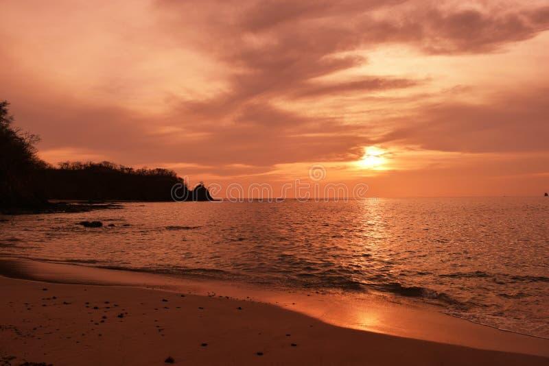 Заход солнца Коста-Рика стоковые изображения