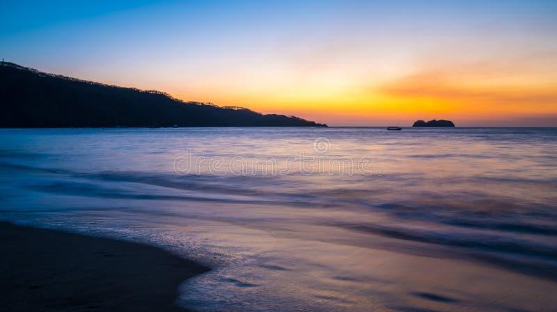заход солнца Косты rican стоковое изображение rf