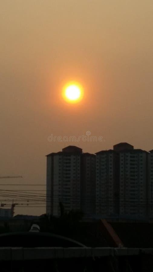Заход солнца Малайзии стоковые фотографии rf
