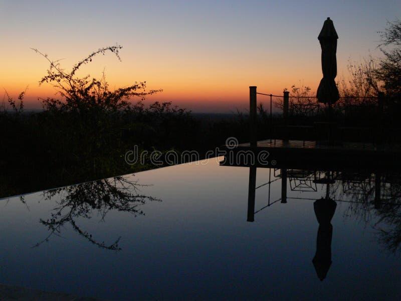 заход солнца Намибии стоковое изображение