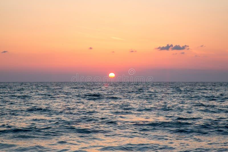 Заход солнца на Греции стоковое изображение rf