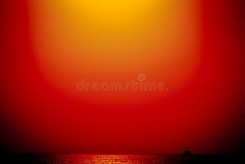 Заход солнца на заливе Финляндии стоковые фото