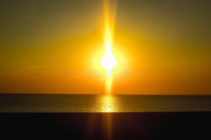 Заход солнца на заливе Финляндии стоковая фотография