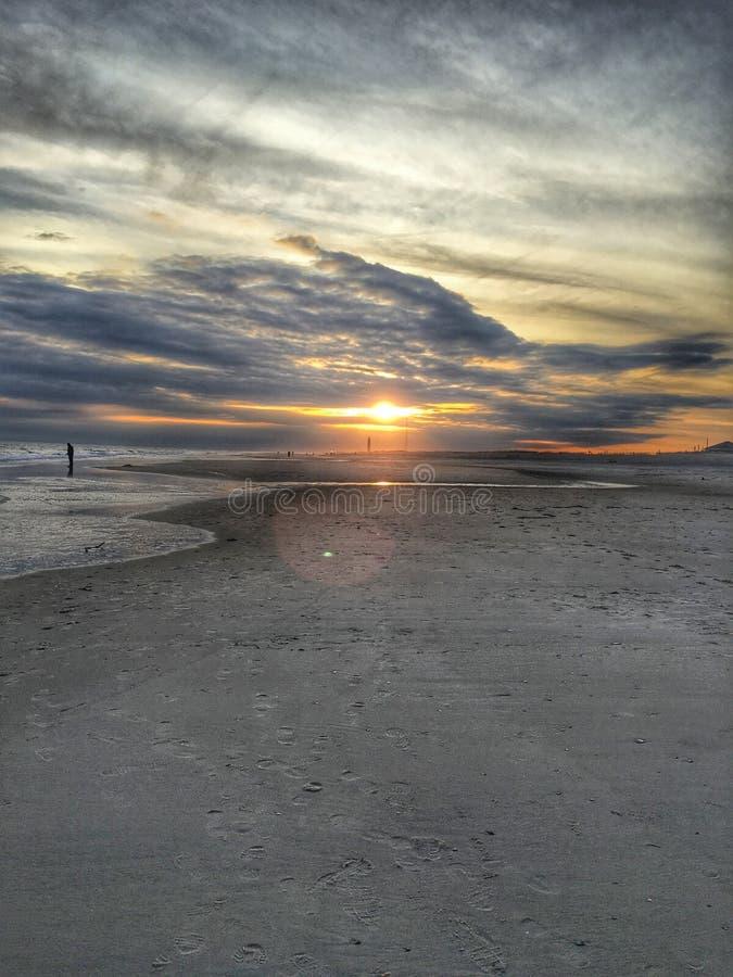 Заход солнца на Лонг-Айленд стоковые фотографии rf