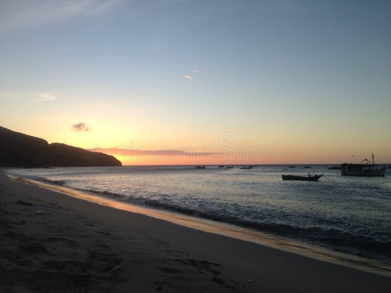 Заход солнца на Мансанильо стоковая фотография