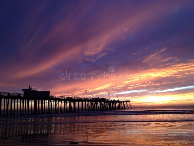 Заход солнца на пляже Pismo