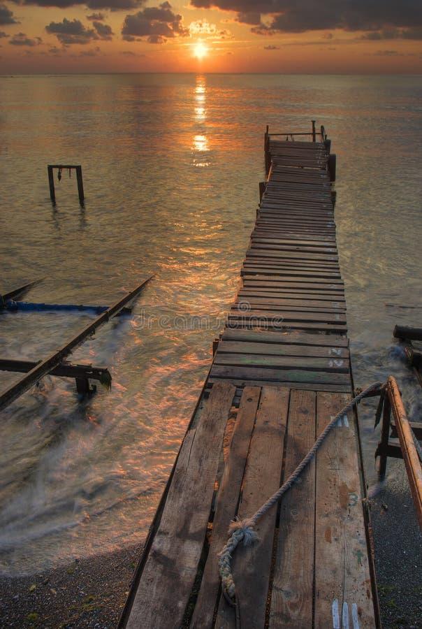 Заход солнца над Чёрным морем стоковые фото