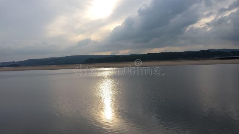 Заход солнца на Arnside стоковые фото