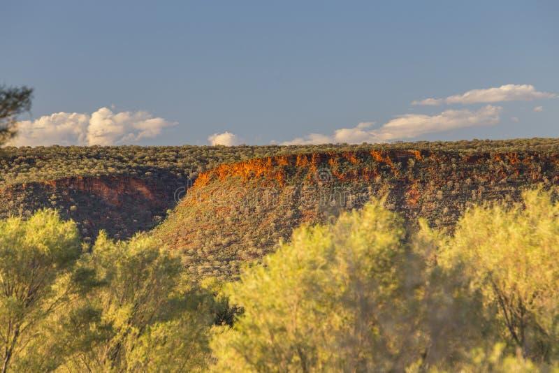 Заход солнца на Escarpment стоковые изображения