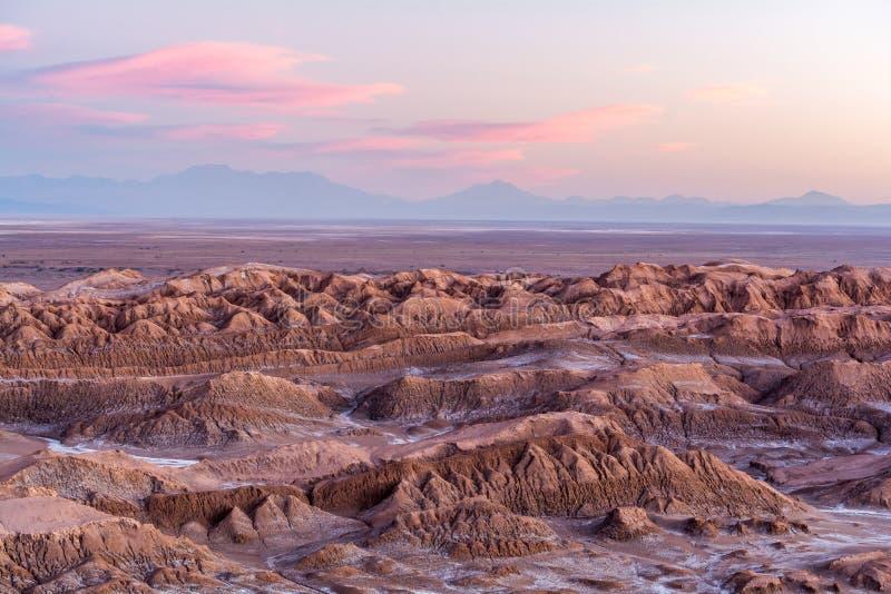 Заход солнца на Mirador del Койоте - San Pedro de Atacama стоковая фотография