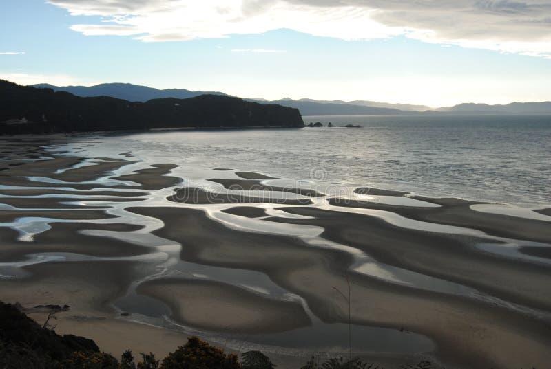 Заход солнца, Новая Зеландия стоковое фото rf