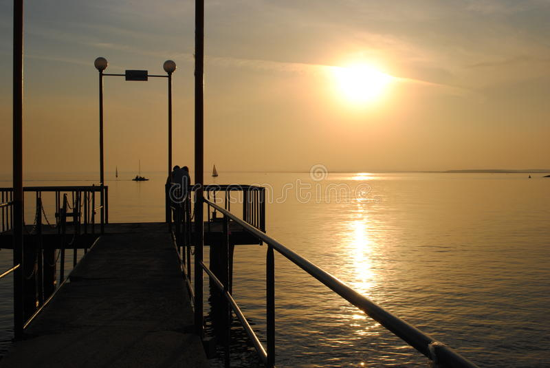 Заход солнца Новосибирска стоковые изображения rf