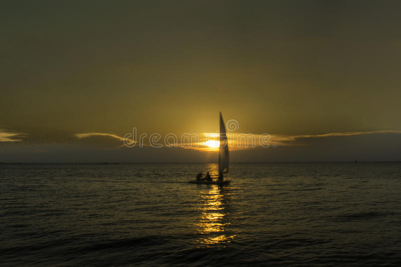 Заход солнца Норфолка стоковая фотография