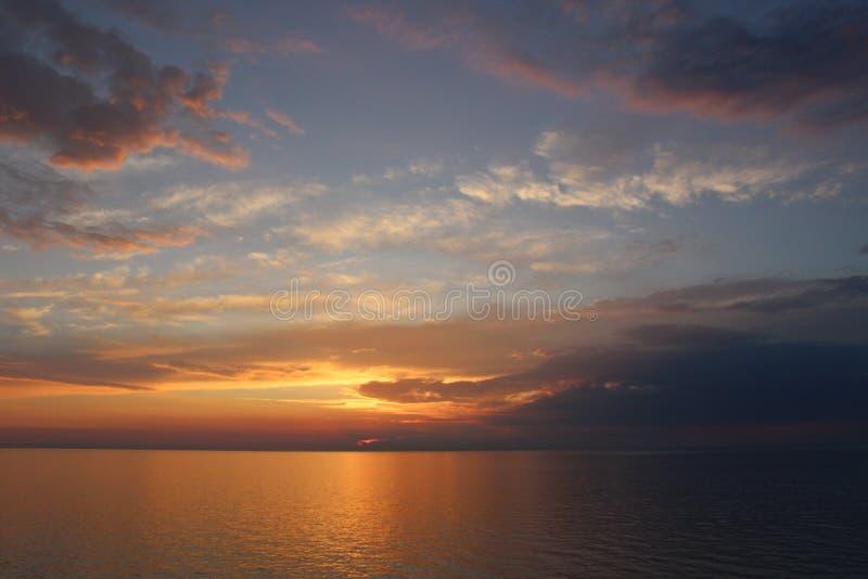 Заход солнца, нордический стоковое изображение rf