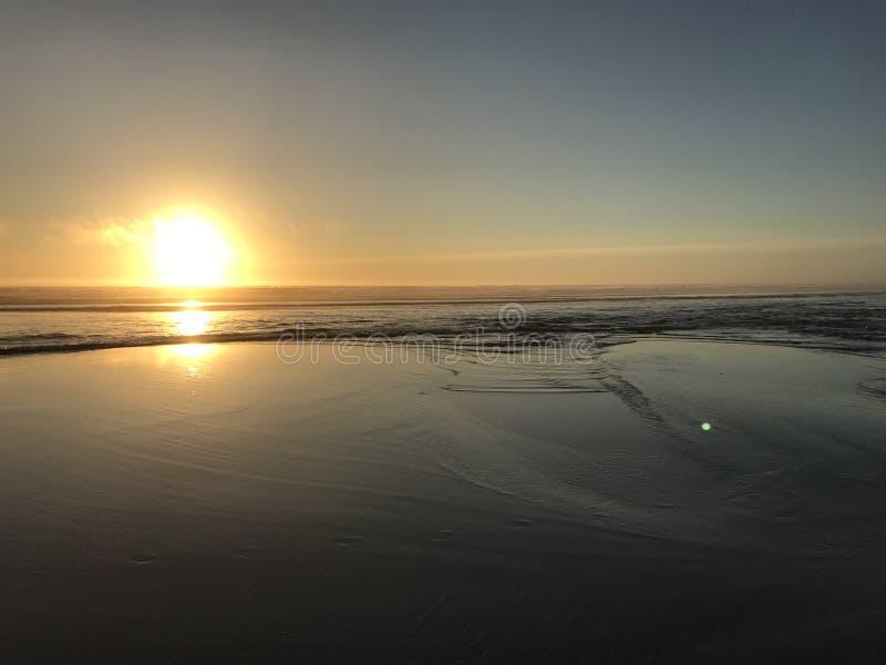Заход солнца Орегона стоковое изображение