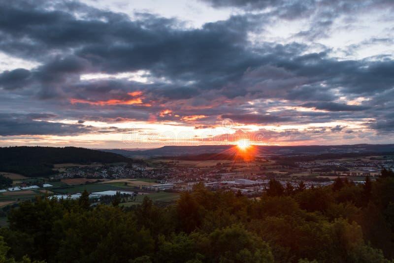 Заход солнца от Altberg стоковое изображение rf