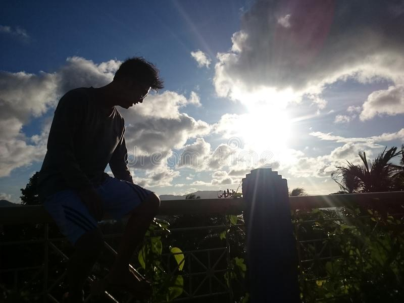 Заход солнца от sabang стоковые фото