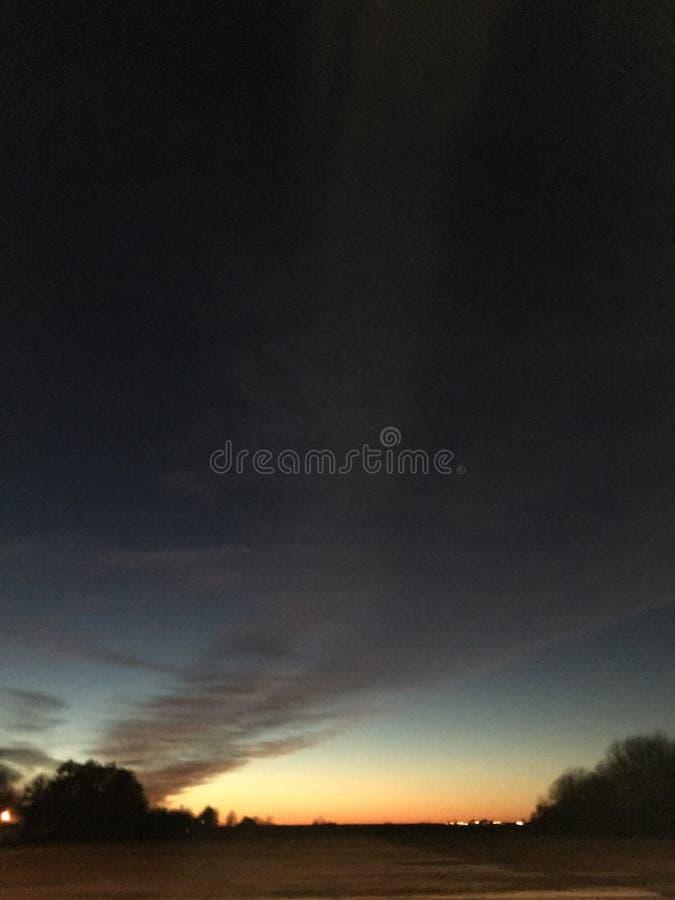 Заход солнца перепада стоковое изображение rf