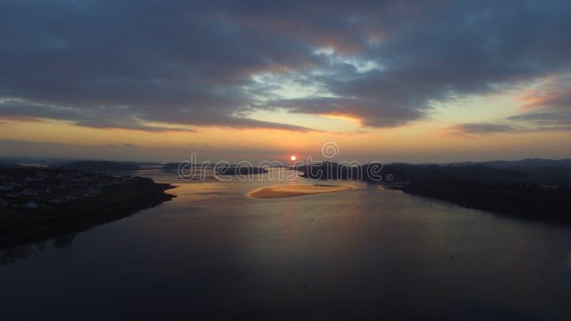 Заход солнца побережья Ирландии стоковые фото