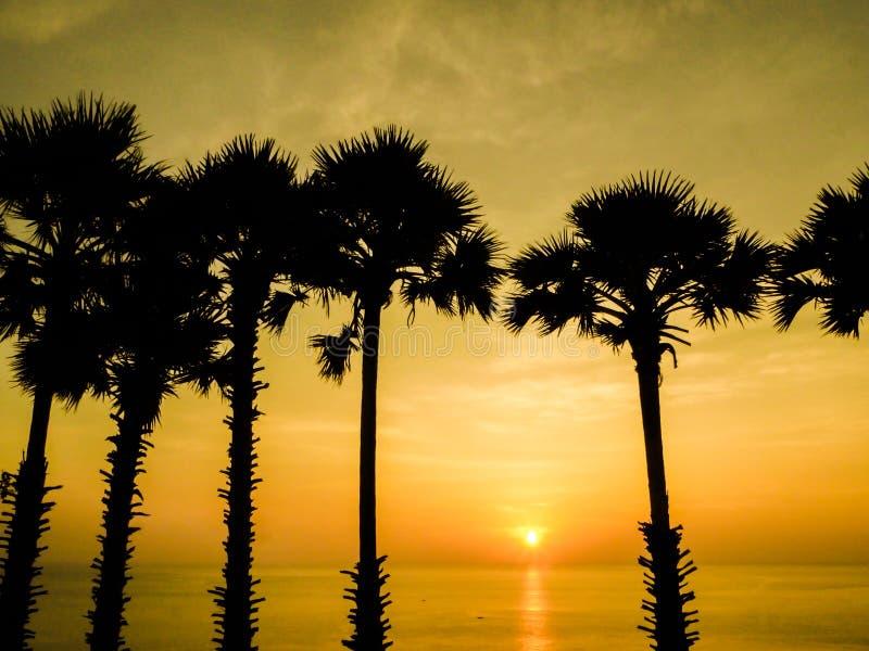Заход солнца Пхукета стоковая фотография rf