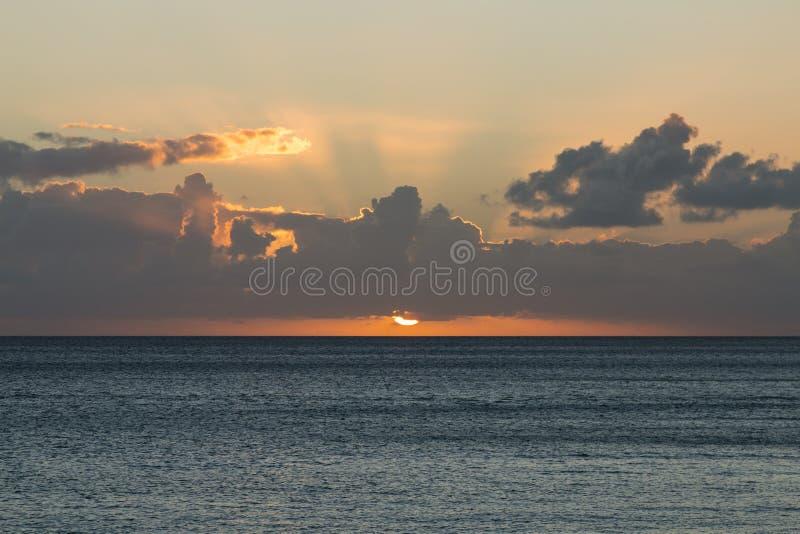Заход солнца пляжа Jandia, Фуэртевентура стоковая фотография