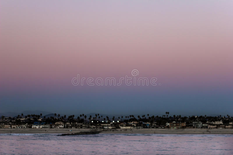 Заход солнца, Сан-Диего стоковые изображения rf
