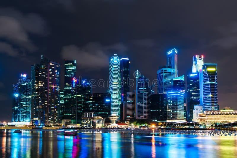 Заход солнца Сингапура стоковое изображение rf