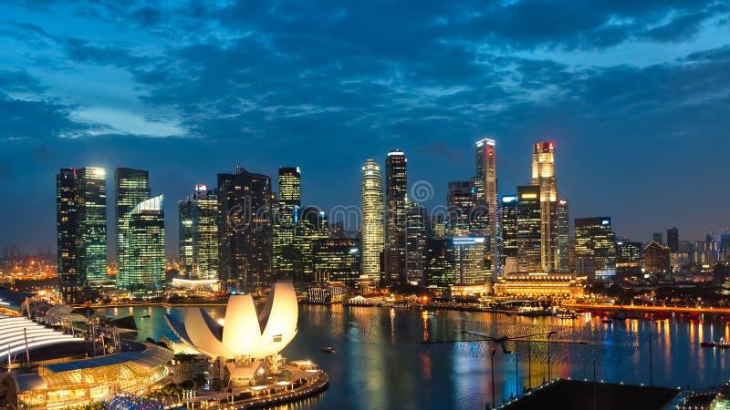 Заход солнца Сингапура стоковое фото rf
