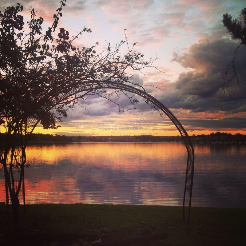 Заход солнца Сидней стоковое фото