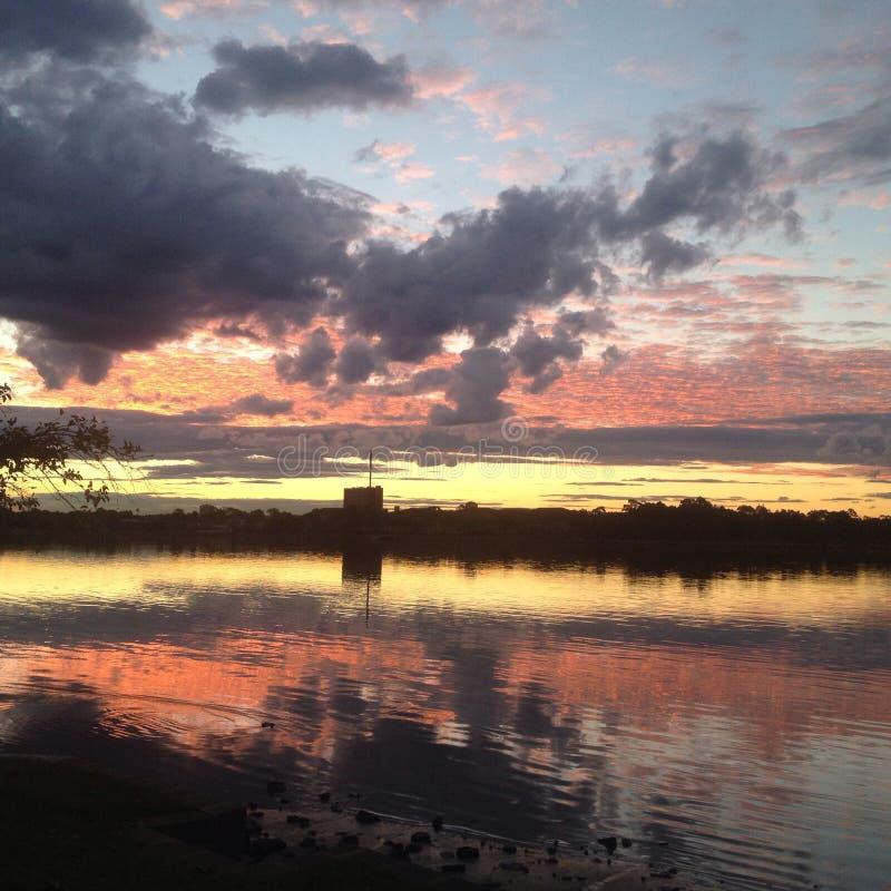 Заход солнца Сидней стоковые изображения rf