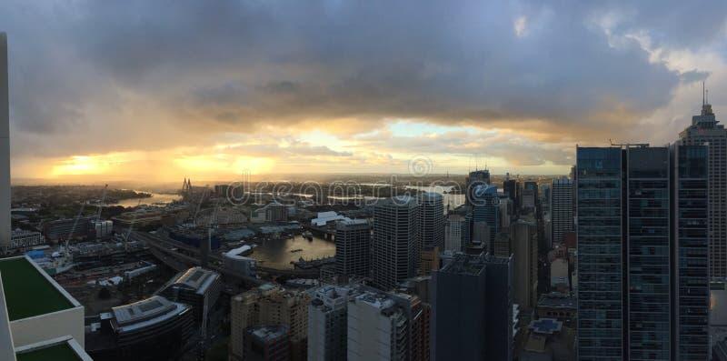 Заход солнца Сидней стоковые изображения