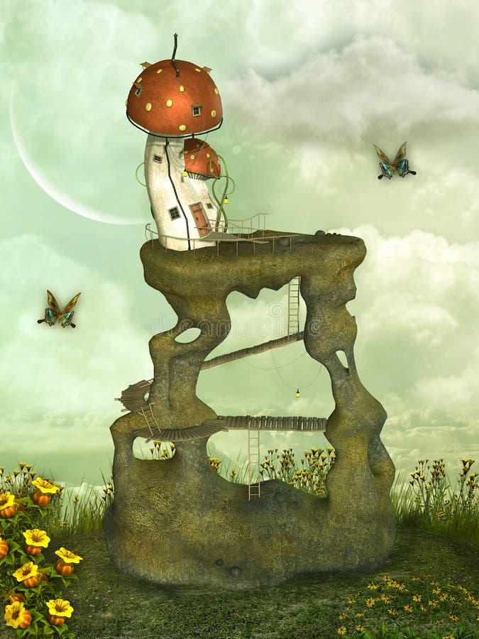 заход солнца солнца неба света ландшафта фантазии птицы волшебный бесплатная иллюстрация