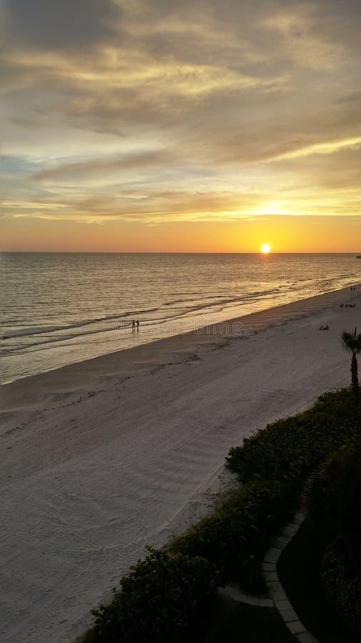 Заход солнца Флориды стоковые изображения