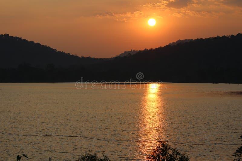 Заход солнца стоковое фото rf