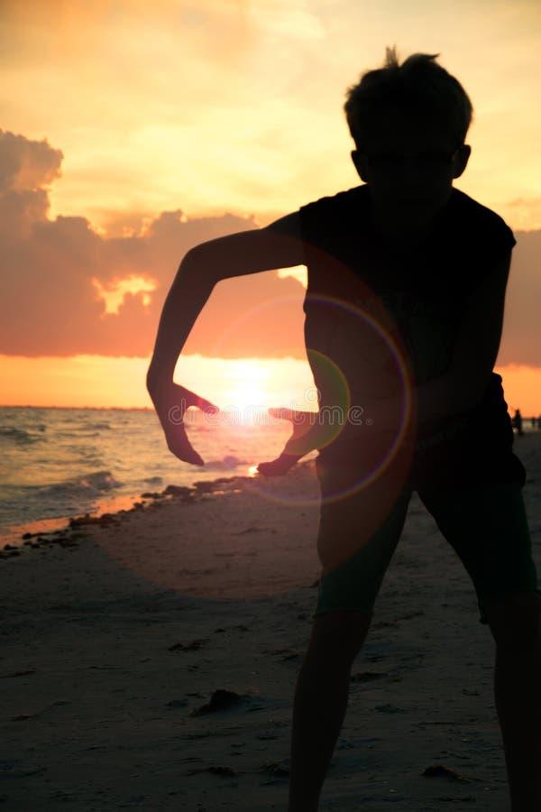 Заход солнца Baller стоковое фото