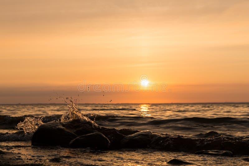 Заход солнца baltic 9 стоковая фотография