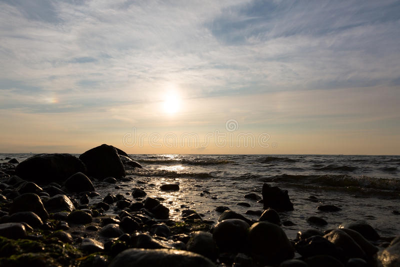 Заход солнца baltic 1 стоковое изображение