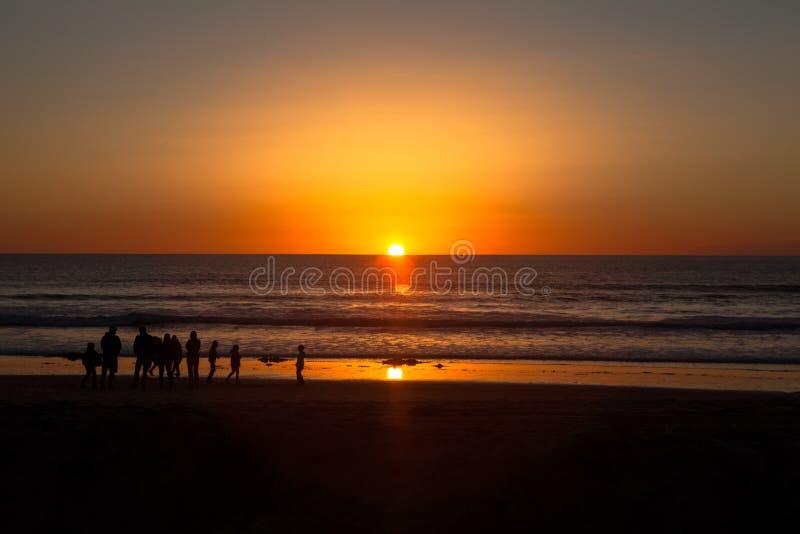 Заход солнца Callifornia в Сан-Диего стоковые фотографии rf